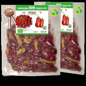 Pomodori secchi bio in buste 100% compostabili ciappa pomodori secchi bio essiccati al sole