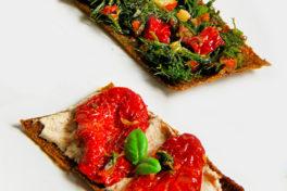 antipasto crudista con pomodori secchi bio