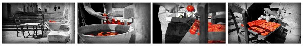 la nonna che faceva i pomodori secchi tra le viuzze di Ispica nel quartiere di Cartidduni