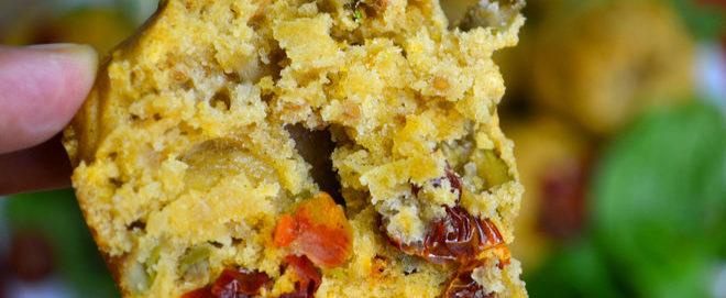 Vegan Muffins with Sun-Dried cherry Tomatoes