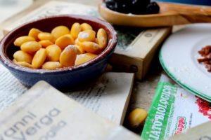 ricetta ispirata ai malavoglia con pomodori secchi e lupini