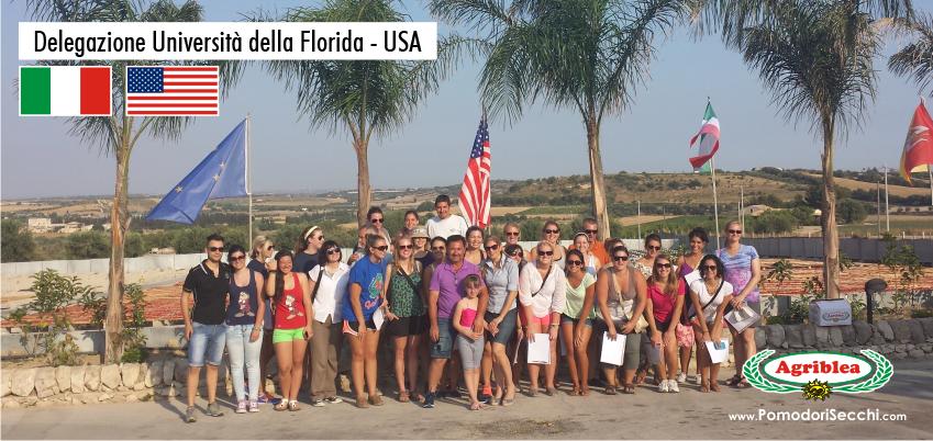 delegazione universita della florida usa ospite da agriblea