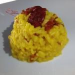 risotto con ciliegino secco