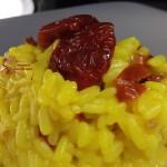 risotto con pomodorini ciliegino essiccati