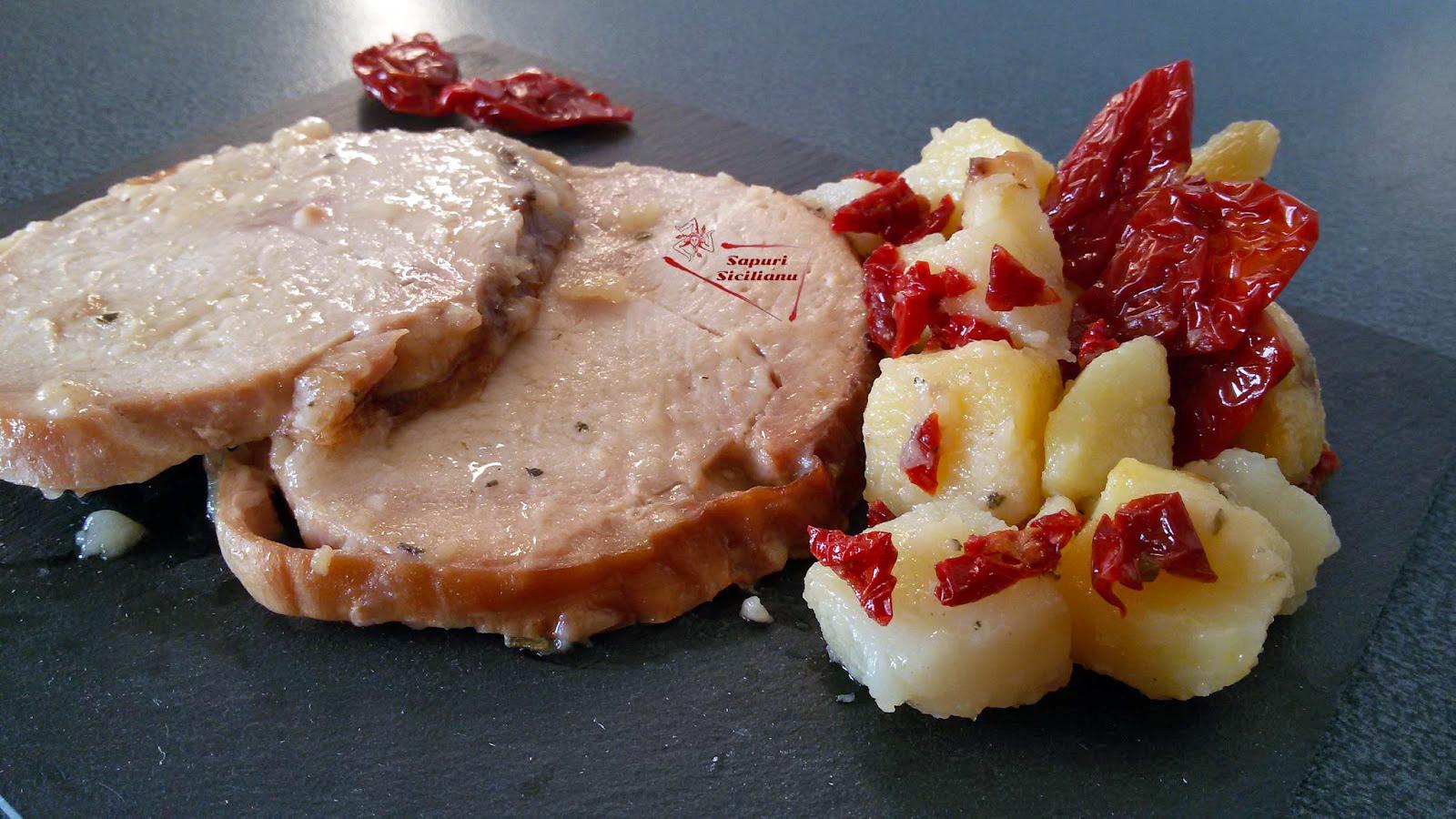Arrosto con patate e Pomodorini Secchi