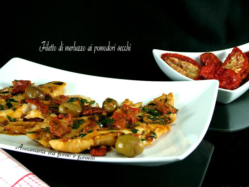 merluzzo a filetti con pomodori secch