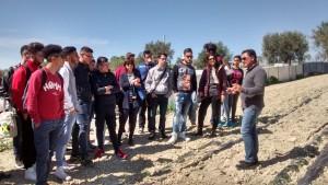 Visita campi pomodori Erasmus