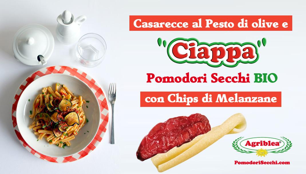 caserecce-con-pesto-di-olive-e-pomodori-secchi-con-melanzane-chips