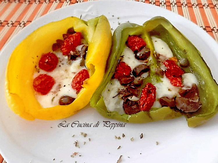 peperoni con pomodori secchi