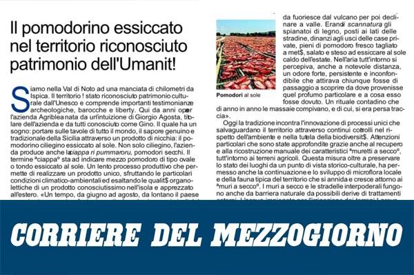 Agriblea sullo Speciale Sicilia del Corriere