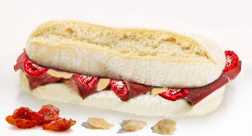 Warm Mediterranean sandwich
