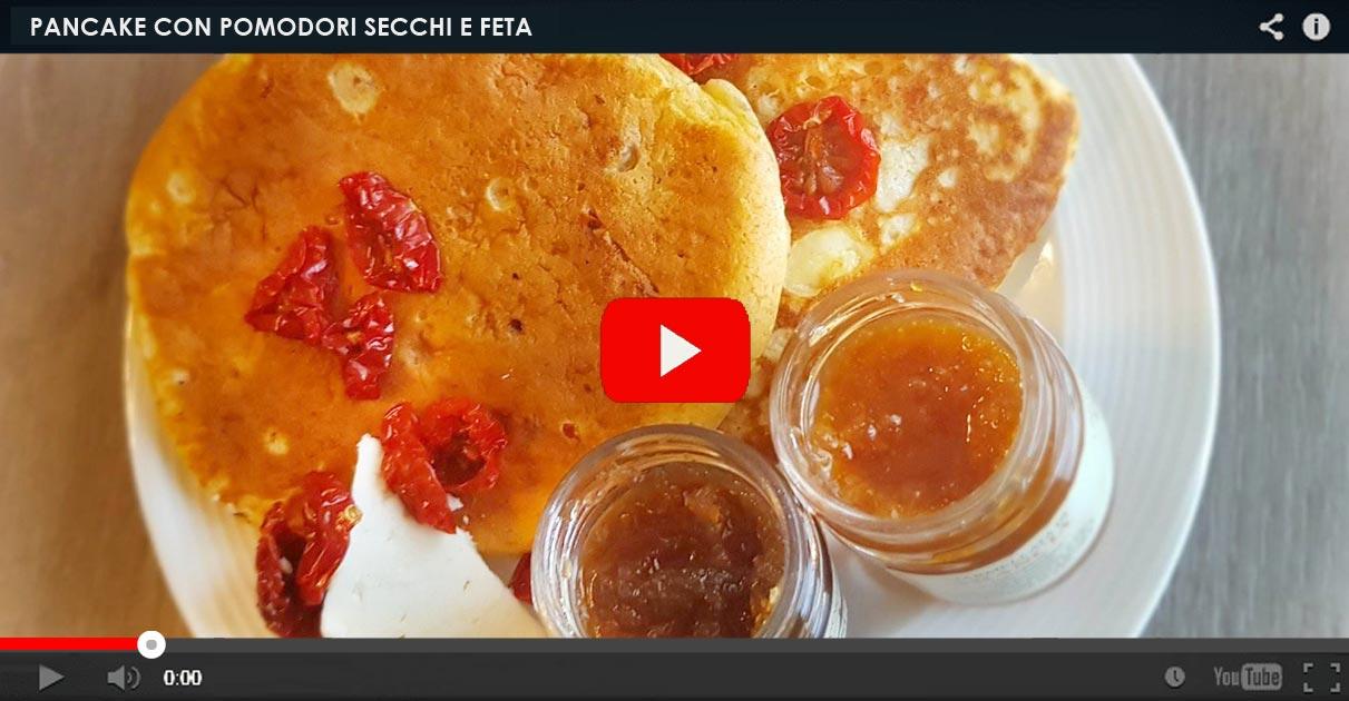 pancake con pomodori secchi bio ciliegini agriblea e feta