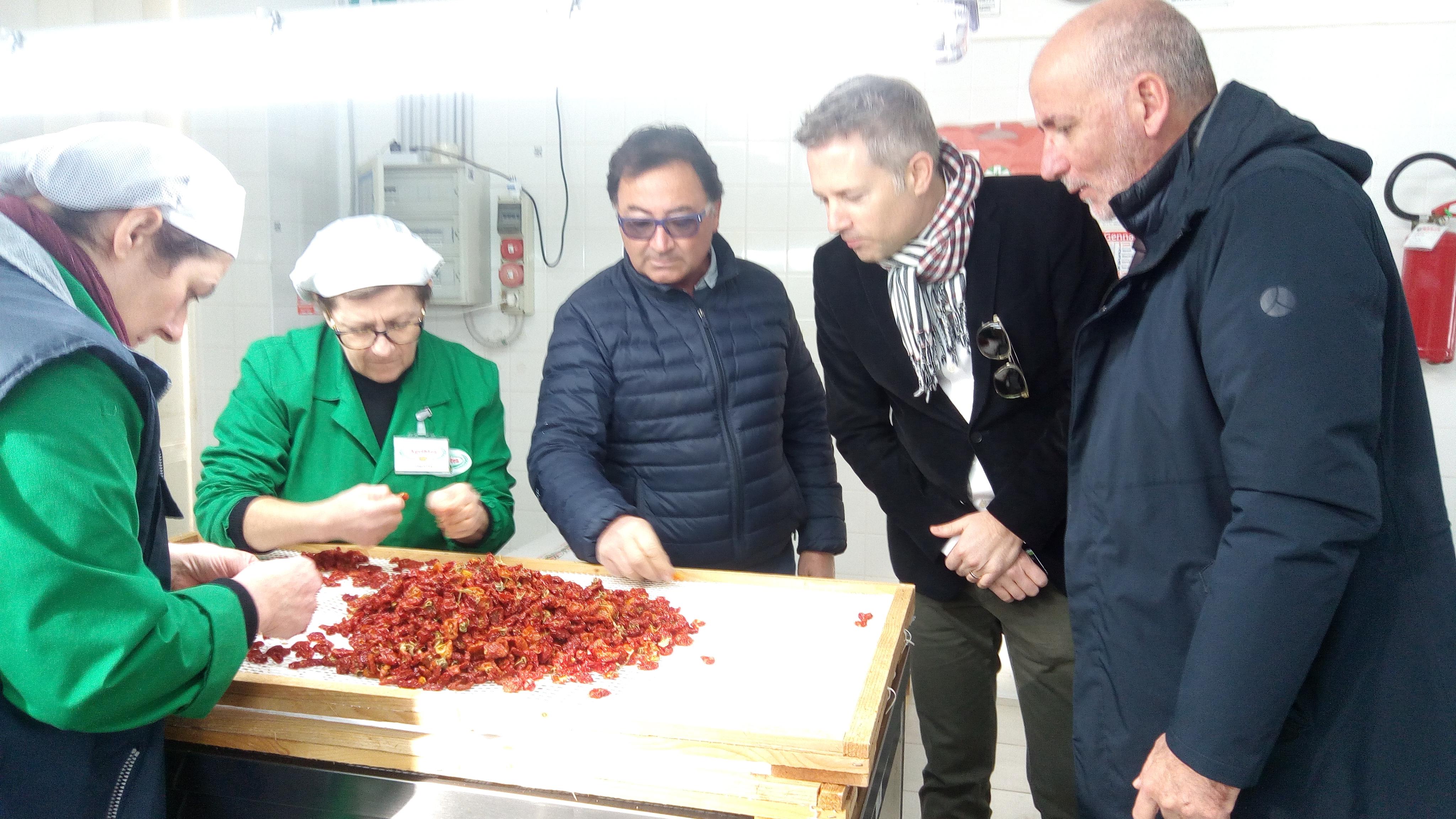 Giornalista FOOD MAGAZINE MIGUSTO visita Agriblea