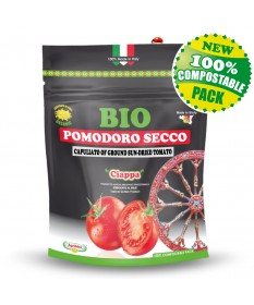 CAPULIATO  - Compostable Doypack 100 g (Ground Sun-dried Toamatoes) ORGANIC