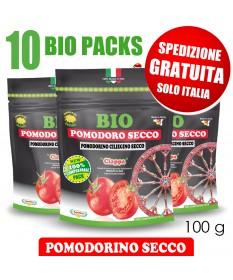 10 BIO PACKS Pomodorino Secco Bio da 100 g - SPEDIZIONE GRATUITA