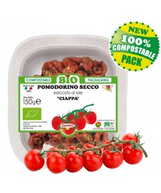 Organic sun-dried Cherry tomatoes - Biodegradable and Compostable doypack 150 g
