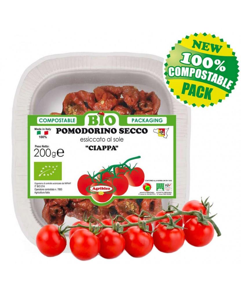 Pomodorino Secco - Ciliegino secco bio in vassoio 200 g biodegradabile
