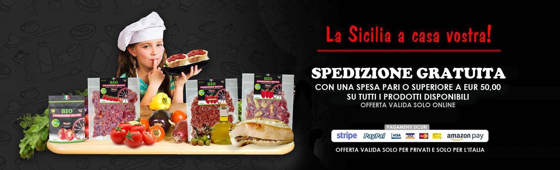Pomodori secchi - SPEDIZIONE GRATUITA (solo per privati e solo l'Italia)