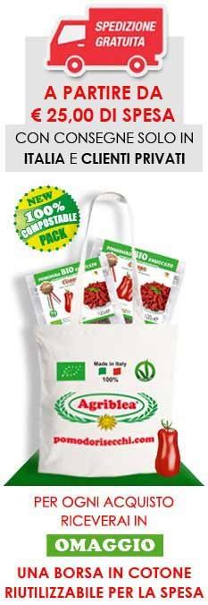 Per ogni acquisto riceverai in omaggio una borsa in cotone riutilizzabile per la spesa