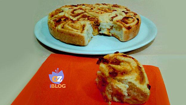 Torta girelle salata con Pomodori Secchi e tonno