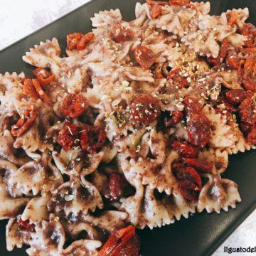 Farfalle al patè di olive e ciliegini secchi bio Agriblea