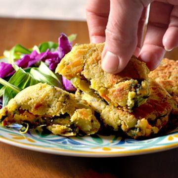 Polpette agli spinaci, capuliato e patate - Ricetta Vegan