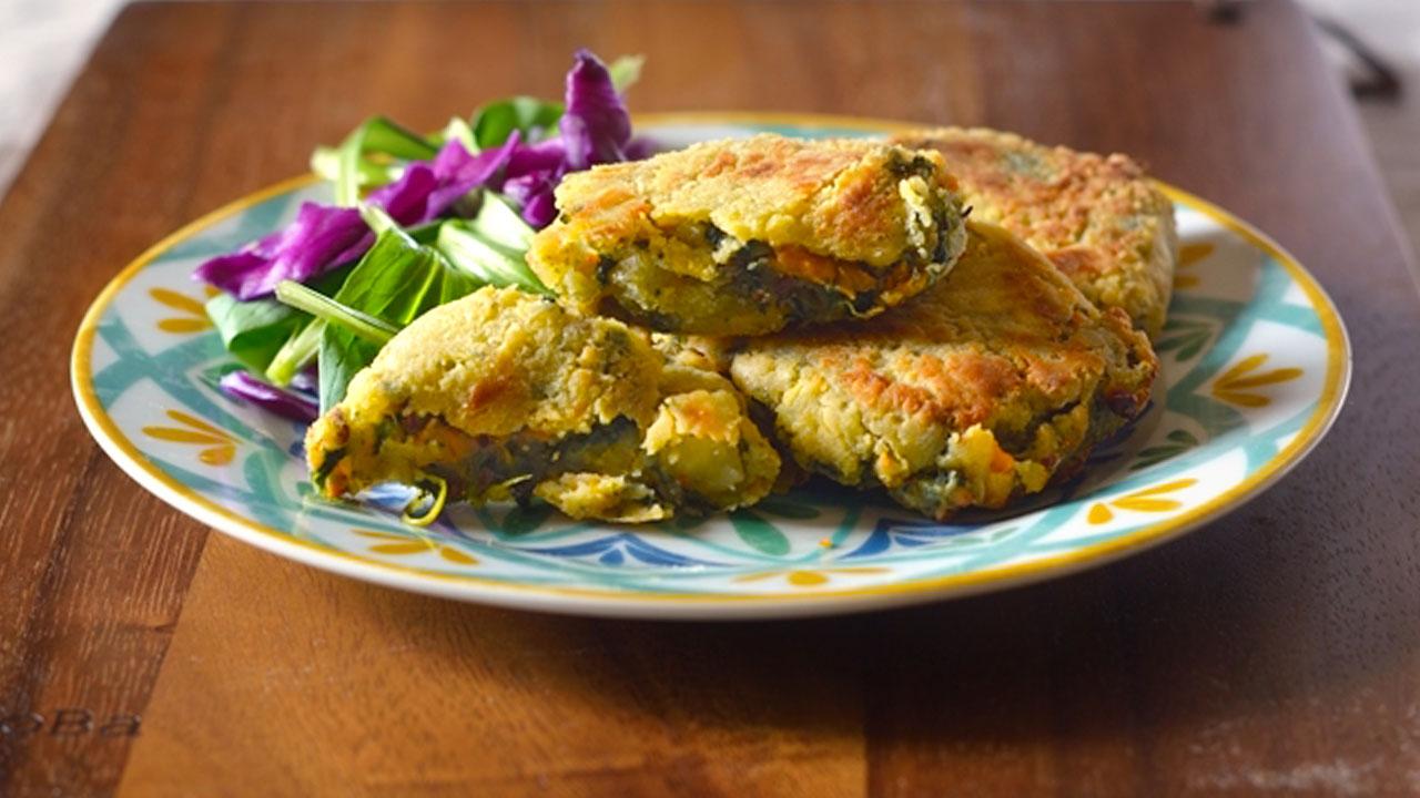 Polpette patate capuliato e spinaci - VEGAN