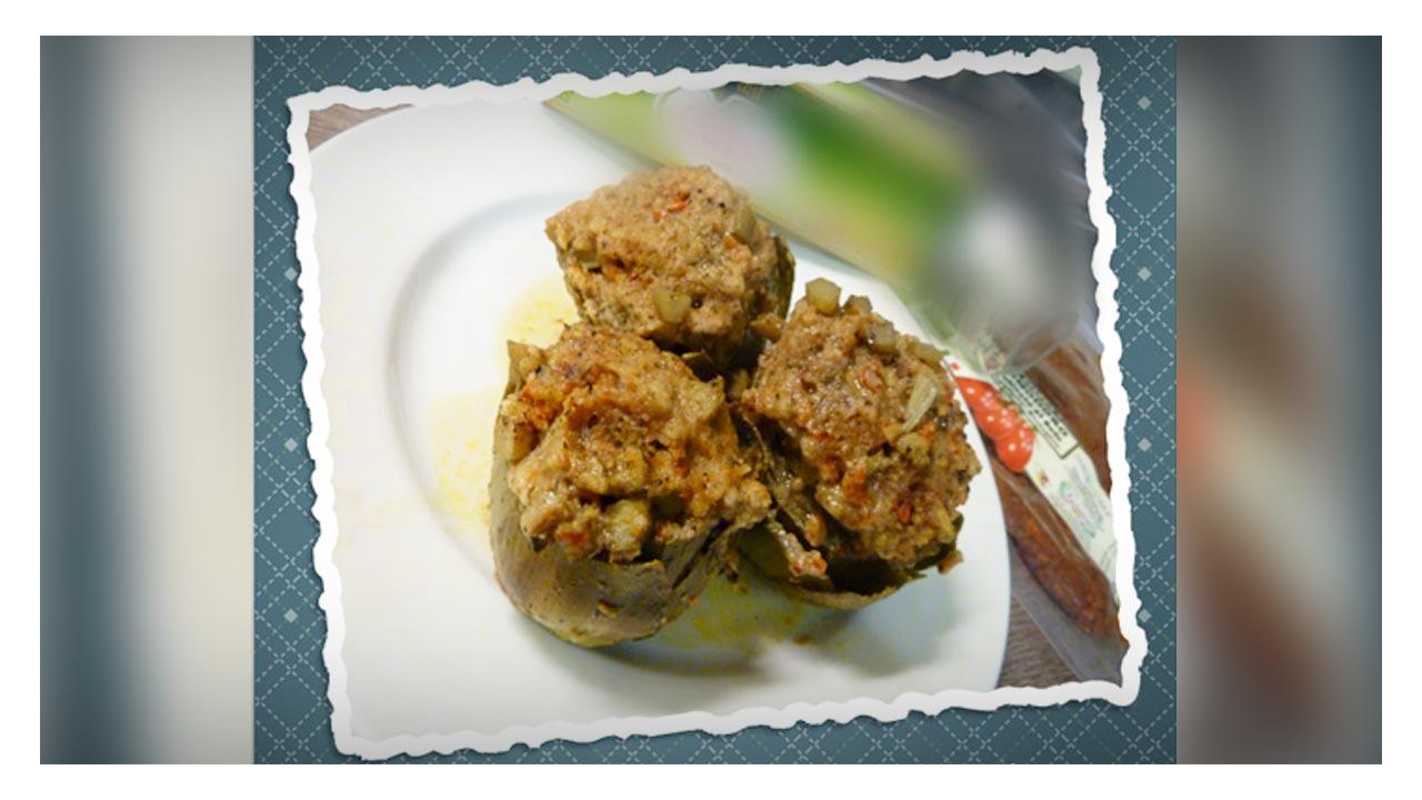 Carciofi con tappo croccante e pomodori secchi (capuliato)