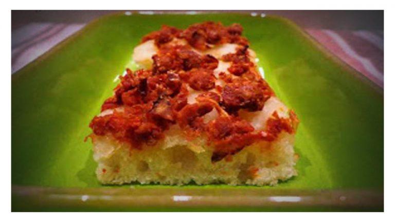 Focaccia con Capuliato (pomodori secchi tritati)