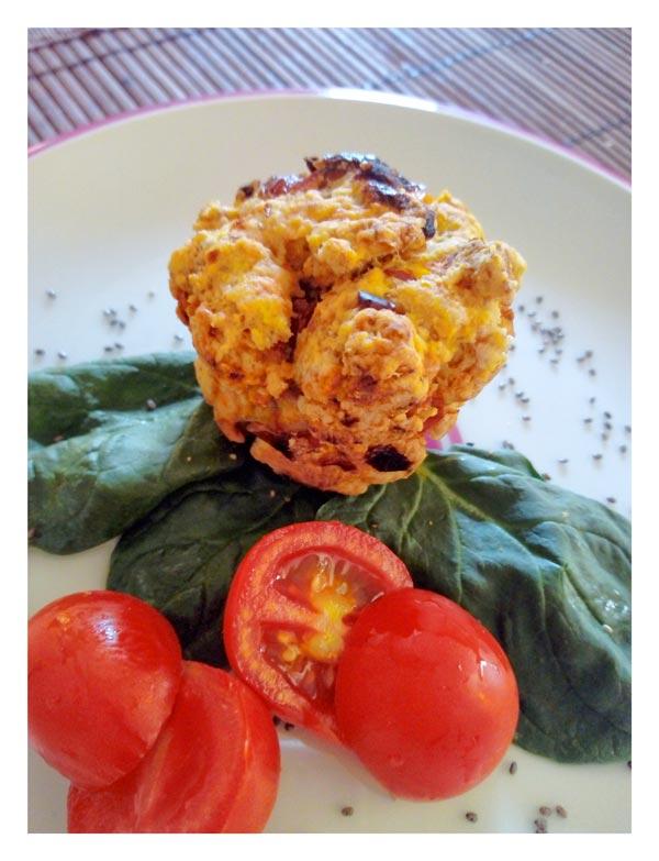 Muffin Veg con Ciappa (pomodori secchi bio)
