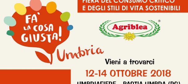 Agriblea (pomodori secchi bio) partecipa a fa la cosa giusta - UMBRIA 2018