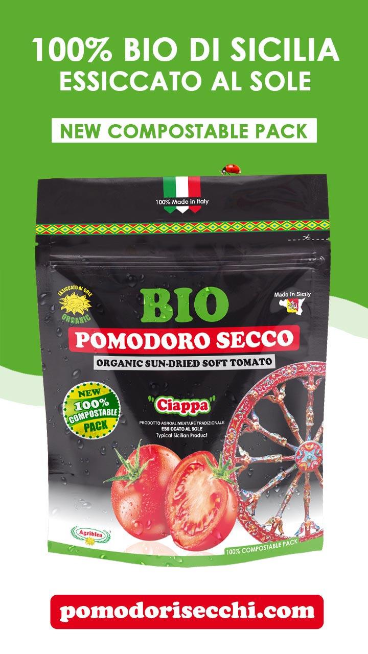 Pomodori Secchi Bio in buste biodegradabili compostabili - doypack