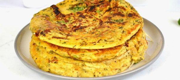 Pancakes salati con pomodori secchi bio e broccoli - Gluten free