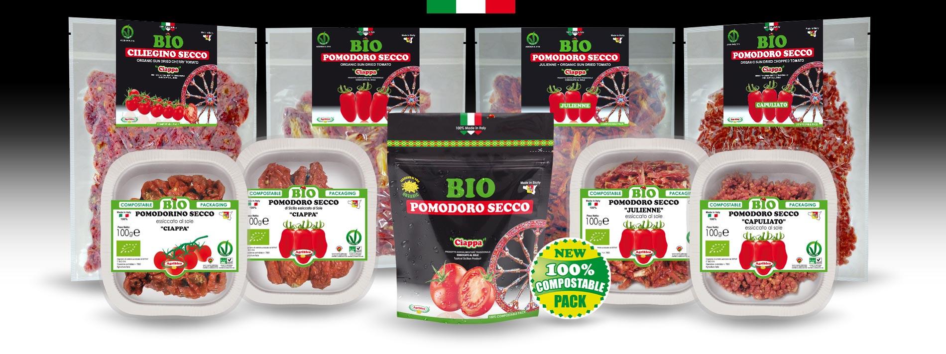 Pomodori Secchi Bio 100% Compostable Pack - Agriblea