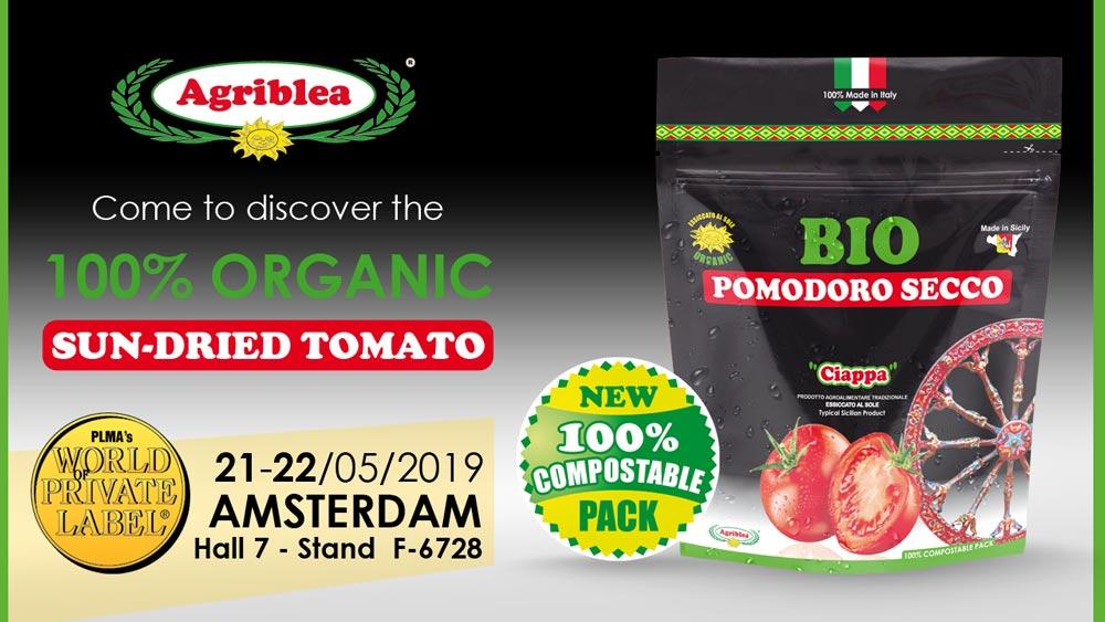 Vieni a scoprire i Pomodori Secchi Bio Agriblea al PLMA AMSTERDAM 21 22 Maggio 2019