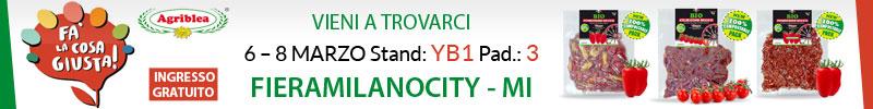 Agriblea presente a Fa' la cosa giusta 2020 MILANO dal 6 – 8 MARZO Stand: YB1 Pad.: 3