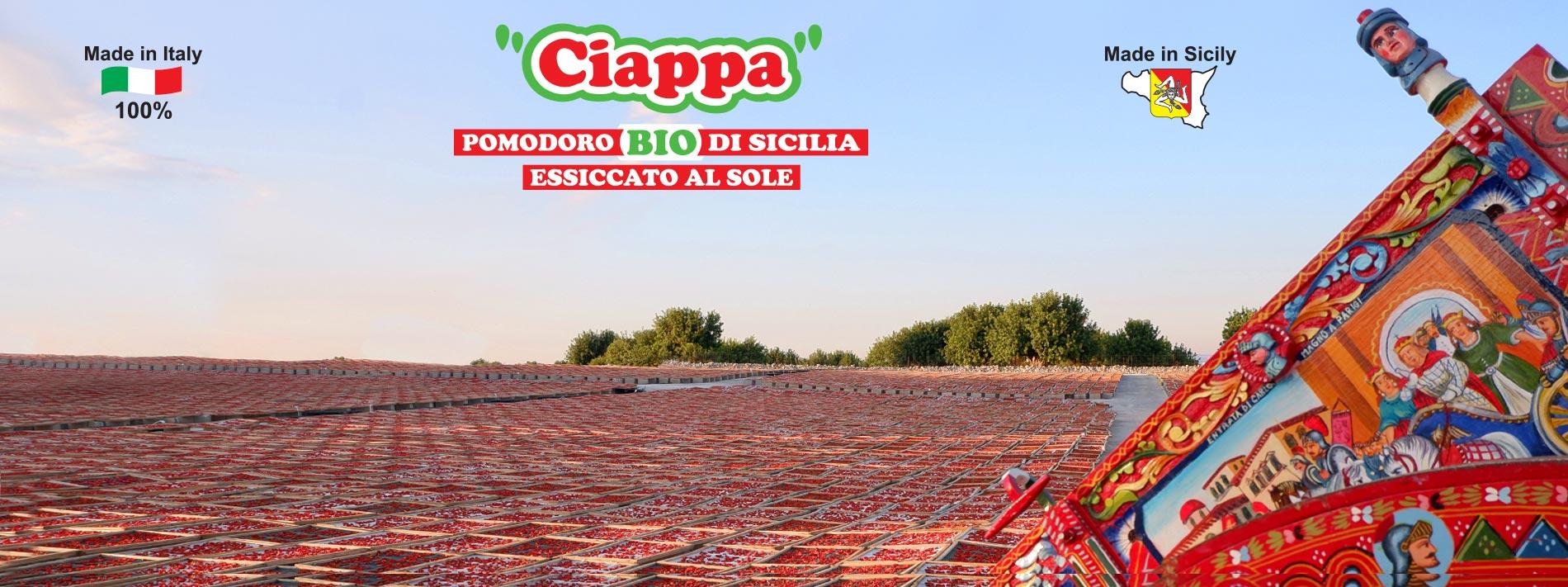 Ciappa (pomodori bio di sicilia essiccati al sole) Agriblea