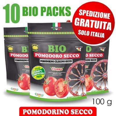 10 BIOPACK pomodorino secco bio 100 g - SPEDIZIONE GRATUITA