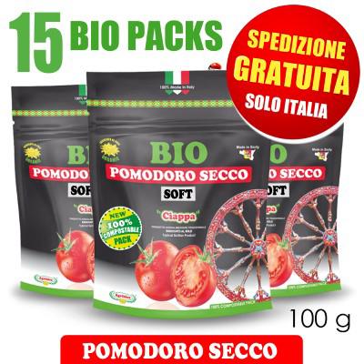 15 BIO PACKS Ciappa Pomodori Secchi Bio 100 g  - SPEDIZIONE GRATUITA