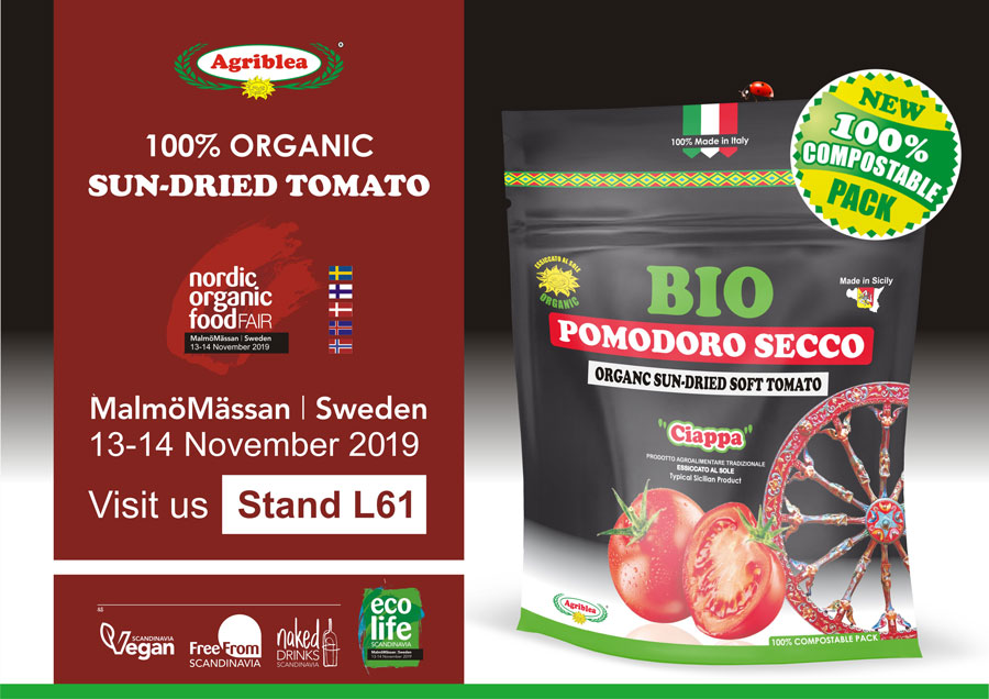 Nord Organic Food Fair presso MalmöMässan SVEZIA dal 13 al 14 Novembre 2019