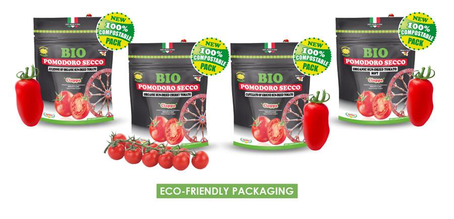 pomodori secchio bio in buste compostabili biodegradabili
